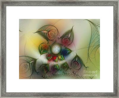 Framed Print featuring the digital art Fun With Gardening by Karin Kuhlmann