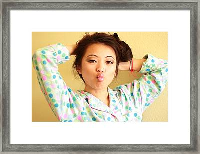 Fun With Polkadots Framed Print by Aimee Galicia Torres