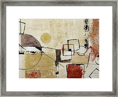 Fun With Shapes Framed Print by Ruth Palmer