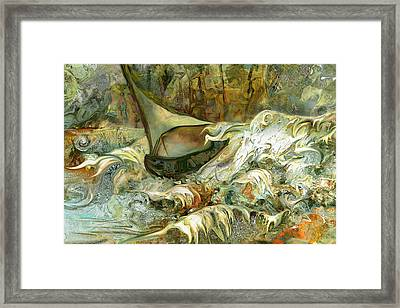 Fun With The Waves Framed Print by Anne Weirich