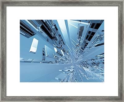 Fundo Futuristic Do Spacey Framed Print by Caio Caldas