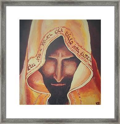 Fundraise Series 3 Praying Jew Framed Print by Kerstin Berthold
