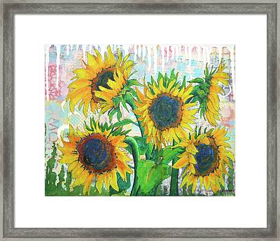 Funflowers Framed Print
