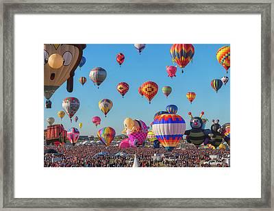 Funky Balloons Framed Print
