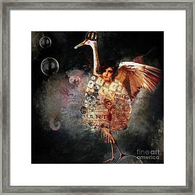 Funky Bird ... Figaro Framed Print by Monique Hierck