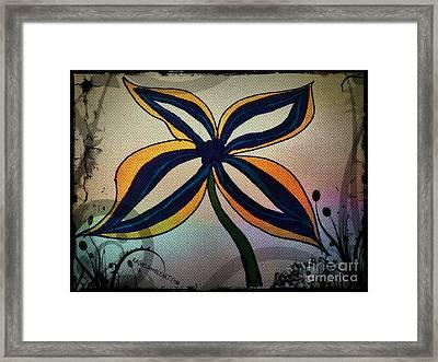 Funky Flower Framed Print