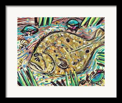 Salt Water Fish Framed Prints
