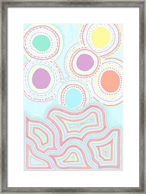 Framed Print featuring the drawing Funky Fun by Jill Lenzmeier