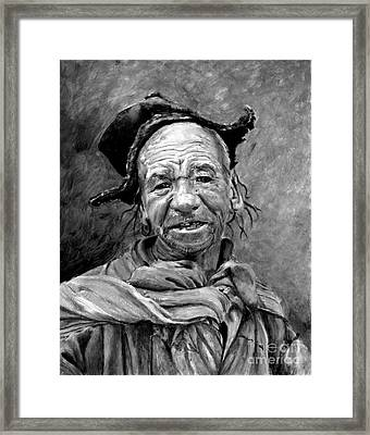 Funky Hat Framed Print by Enzie Shahmiri