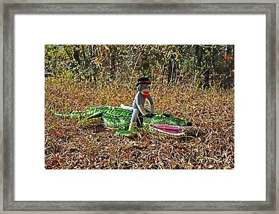Framed Print featuring the photograph Funky Monkey - Reptile Rider by Al Powell Photography USA