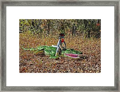 Funky Monkey - Reptile Rider Framed Print