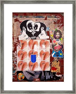 Funky New York Street Art  Framed Print by Funkpix Photo Hunter