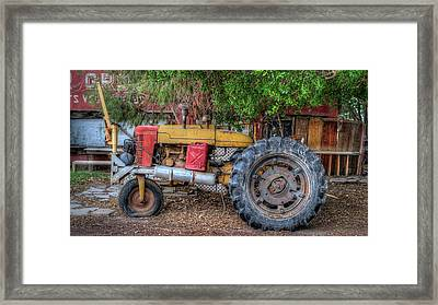 Funky Old Tractor Framed Print
