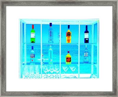 Funky Seaside Paradise Bar In Valaparaiso Framed Print