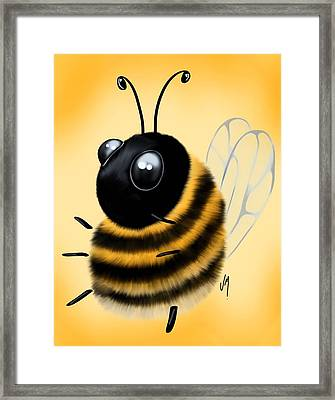 Funny Bee Framed Print