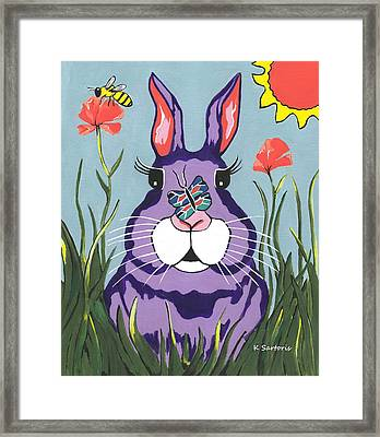 Funny Bunny - Happy Easter Framed Print