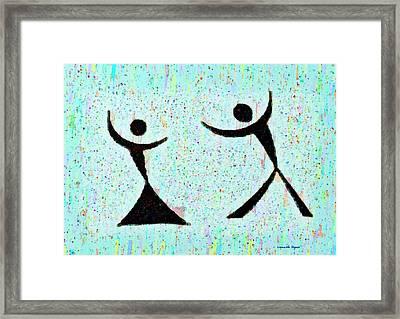 Funny Dance - Da Framed Print