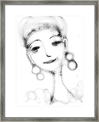 Funny Face Framed Print by Elaine Lanoue