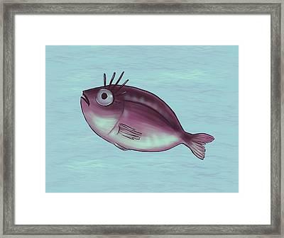 Funny Fish With Fancy Eyelashes Framed Print