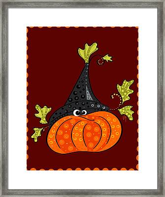 Framed Print featuring the painting Funny Halloween by Veronica Minozzi