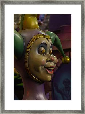 Funny Jester Framed Print by Garry Gay