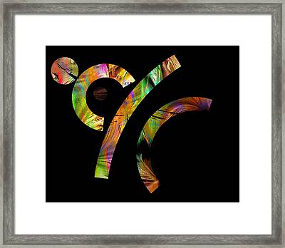 Framed Print featuring the digital art funny Little Stick Man by Irma BACKELANT GALLERIES