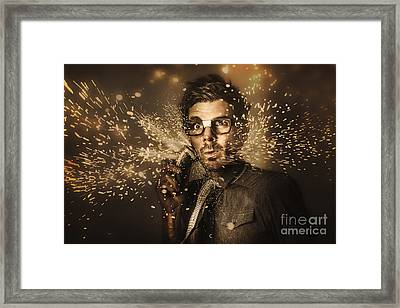 Funny Male Beauty And Fashion Nerd Framed Print by Jorgo Photography - Wall Art Gallery