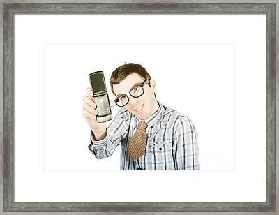 Funny Selfie Framed Print