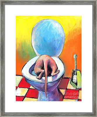 Funny Sphynx Cat Painting Prints Framed Print