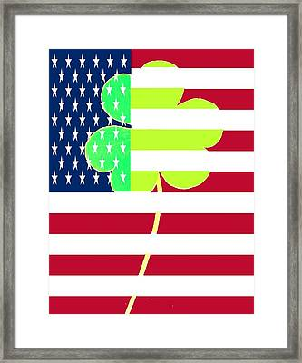 Funny St. Patrick Flag Design Framed Print by Yss