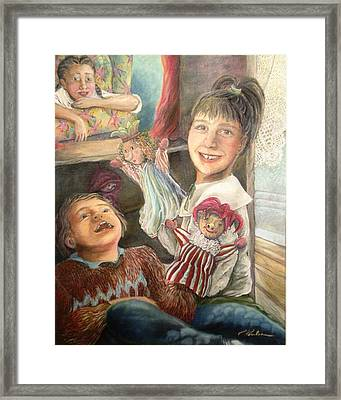 Funny Story - Histoire Drole Framed Print
