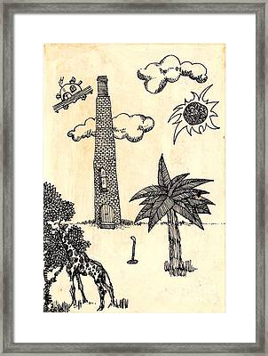 Framed Print featuring the drawing Funny Stuff by Carolyn Weltman