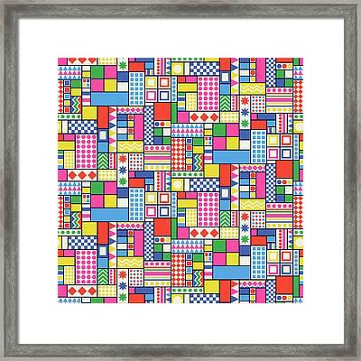 Funtime Geo Framed Print by Sholto Drumlanrig