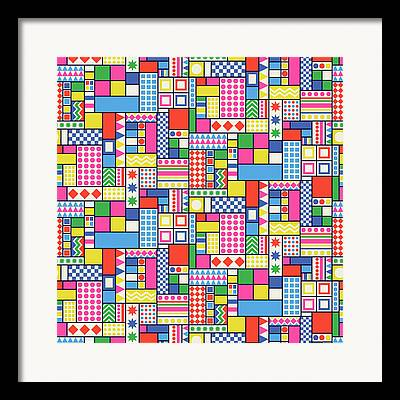 Tetris Block Framed Prints