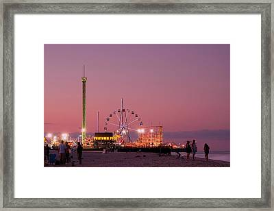 Funtown Pier At Sunset IIi - Jersey Shore Framed Print