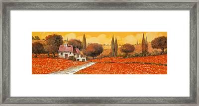 fuoco di Toscana Framed Print