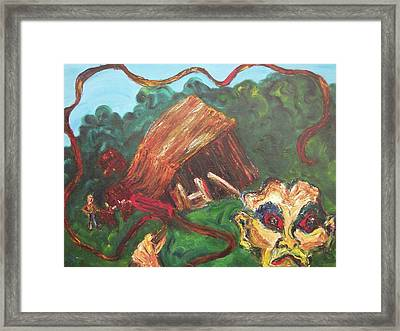 Furious Father Framed Print by Suzanne  Marie Leclair