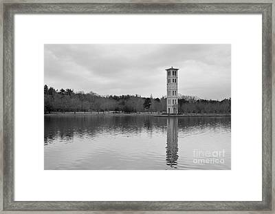 Furman Bell Tower 4 Bw Framed Print