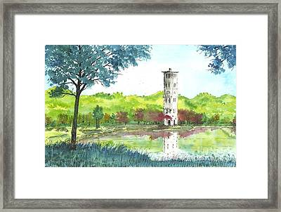 Furman Bell Tower Two Framed Print