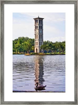 Furman University Bell Tower Framed Print