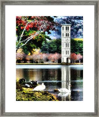 Furman University Bell Tower Framed Print