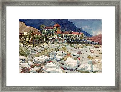 Furnace Creek Inn In Death Valley Framed Print by Donald Maier
