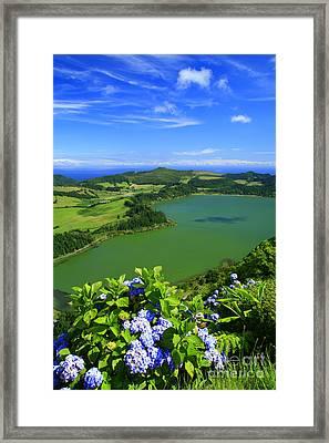 Furnas Lake Framed Print by Gaspar Avila