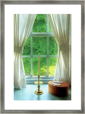 Furniture - Lamp - Still Life In A Window  Framed Print