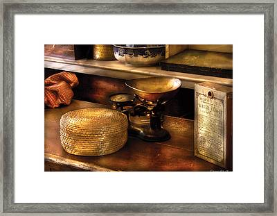Furniture - Table - Curious Items For Sale  Framed Print by Mike Savad