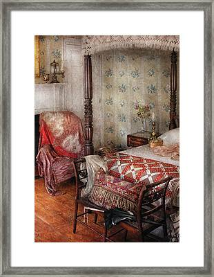 Furniture - Bedroom - A Place To Sleep Framed Print by Mike Savad