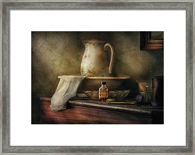 Furniture - Table - The Water Pitcher Framed Print by Mike Savad