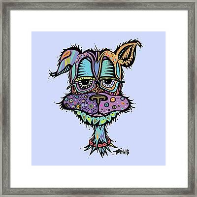 Furr-gus Framed Print by Tanielle Childers