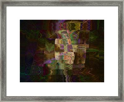 Framed Print featuring the digital art Furrows by Kate Word