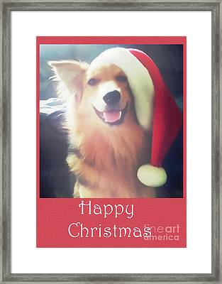 Furry Christmas Elf Framed Print
